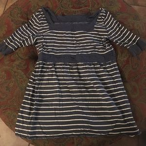 Blue shirt with stripes